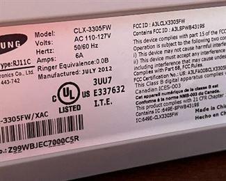 Samsung CLX-3305FW Color Laser Printer13x16x16inHxWxD