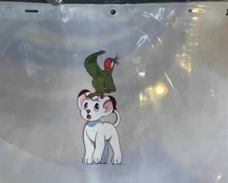 Kimba the White Lion Animation Cel Anime9.5x14.5in