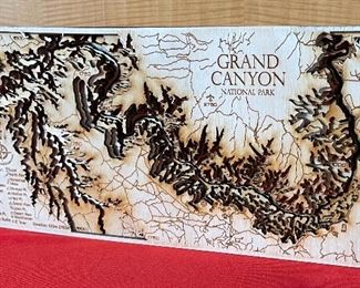 Grand Canyon 3d Wood Topographic Map6x12in