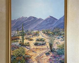 *Original* Art Sonoran Desert Scene G Stiles51x39x2inHxWxD