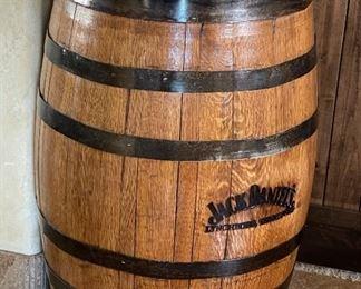 Jack Daniels No 7 Oak Whiskey Barrel Original35in H x 24in diameter at widest point