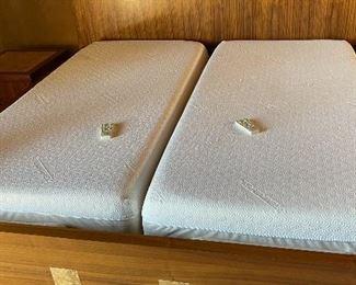 Custom Made Walnut & Birdseye Maple King Bed86x98x98inHxWxD