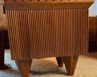 2pc Custom Made Walnut & Birdseye Maple Nightstands PAIR24x24x24inHxWxD