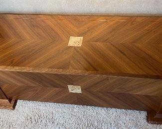 Custom Made Walnut & Birdseye Maple Cedar Lined Blanket Chest23x64x26.5inHxWxD