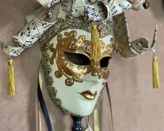 #3 Otto Bassano Masquerade Mask Venice Italy Venetian24x10x6inHxWxD