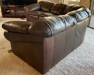 Creative Leather Sectional Sofa Couch34x42 102 & 102HxWxD