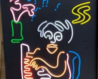 John Lennon Kinetic Neon Light Baby Grand Marigold  Limited Edition 347/37515x10x2in