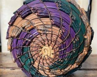 #3 Original Kraynek Prince Torrey Pine Needle Basket11in H x 7.5in diameter (at widest)
