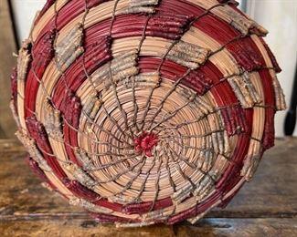 #4 Original Kraynek Prince Torrey Pine Needle Basket6.5in H x 8.5in diameter (at widest)