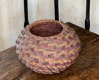 #5 Original Kraynek Prince Torrey Pine Needle Basket6.5in H x 9in diameter (at widest)