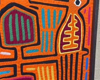 #5 Mola Kuna Indian Tribe Framed Tapestry Art San Blas Islands Panama FramedFrame: 18x20.25in