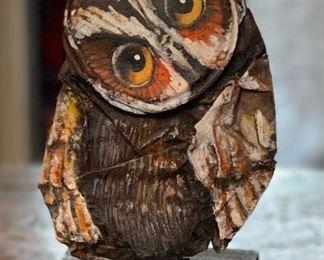 Schlitz Beer Can Owl Folk  Art7x3x2.5inHxWxD