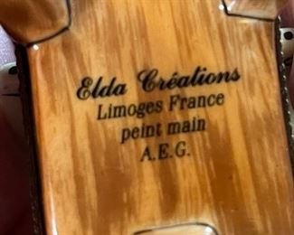 Limoges France Elda Creations Mini Artists Easel Porcelain  figure3x1.5x1.5inHxWxD
