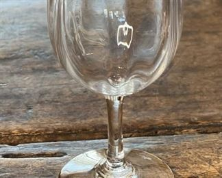 Baccarat Montaigne Optic Port Wine Glass 5in5 H x 2.5in Diameter at top