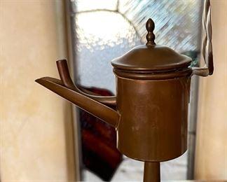 Antique Dutch Whale Oil Lamp12x4x5inHxWxD