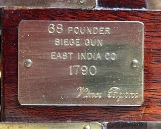 Model 68-pounder cannon East India Company  Siege Gun7x12x20inHxWxD
