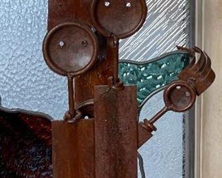 Rustic Metal Art Figures Family19x9x4.5inHxWxD