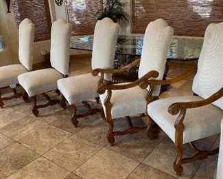 Robb & Stucky Amelia Dining Table & 6 ChairsTable: 30x48x96in