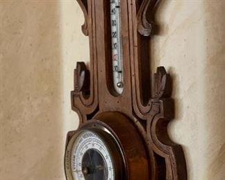 Antique Pollmann Leiden Barometer15x8x2inHxWxD