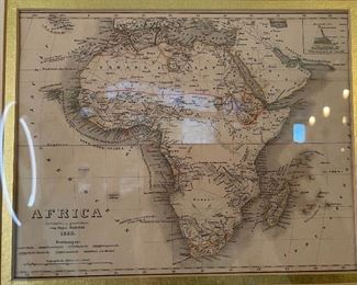 Framed Antique Map Print Africa 183015x17.5in