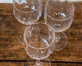 Set of 3 Baccarat Montaigne Optic Claret Wine Glasses5.75in H x 2.75in Diameter at top