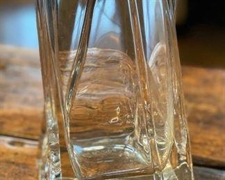 Roberto Crystal Glass Vase Twist12x5x5in