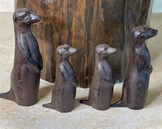 Cast Iron Prairie Dog Family of 4Tallest: 6.5in H