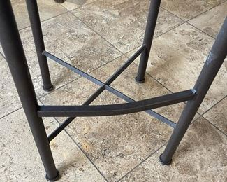 3pc Iron Counter Height Chairs Bar Stools32x18x18inHxWxD