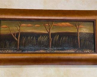 *Original* Art Elizabeth Cheche  Oil Painting18x36in