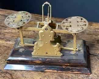 George Betjemann Antique postal scale6x8.5x4.5inHxWxD