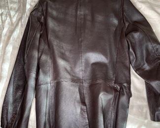 apt.9 Brown Leather Jacket38R
