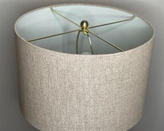 Contemporary Ceramic & Wood Lamp Turquoise #226H x16in diameter