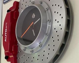 AUTOart Disc Brake Wall Clock13in Diameter