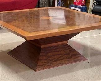 Contemporary Custom Maple Burl Coffee Table16x42x42in