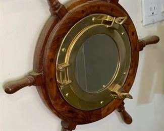 Nautical porthole mirror19in