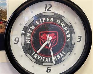 Dodge Viper Clock Ninth Viper Owners Invitational Clock18in diameter