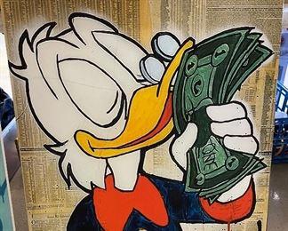 Scrooge Duck ALEC Monopoly Canvas Print36x28