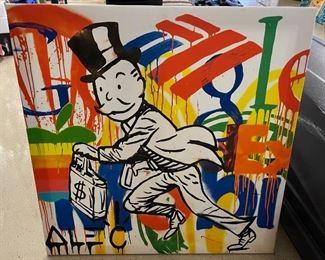 Money Runner ALEC Monopoly Canvas Print28x28