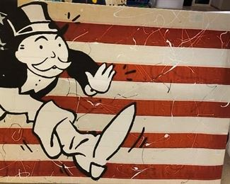 American Flag ALEC Monopoly Canvas Print20x40