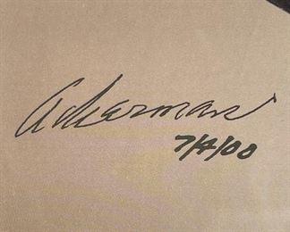 """*SIgned* Dodge Viper """"The Legend Continues"""" poster Roy Sjoberg & Alderman25 x 19 1/2"""