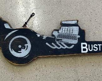 Busted Knuckle Garage Dragster Sign