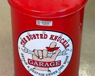 Busted Knuckle Garbage Can Small Fire Resistant16in h x 12in diameter