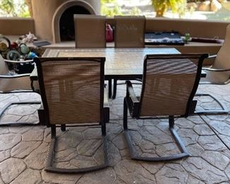 Agio Patio Tile top Table & 6 ChairsTable: 28 x 42x 72.25