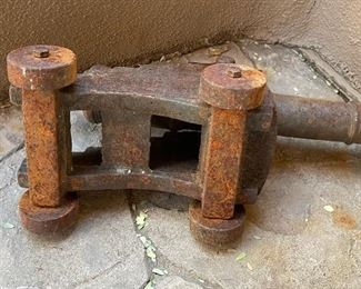 Antique Cast Iron 14in Cannon8x7x16 Cannon length: 14.75in