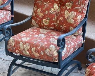 Set of 6 Patio Chairs37x26x28HxWxD