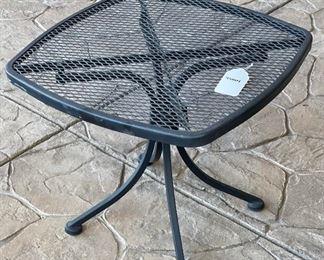 Wrought Iron Patio Table18x22x22HxWxD