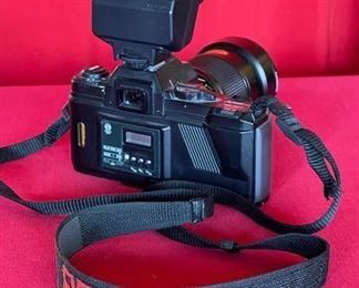 Pentax A3000 35mm Film camera, & vivitar 28-85mm Lens, flash,