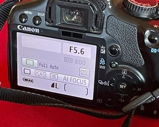 Canon Rebel XSi dSLR camera with EF-S 18-55mm IS lens & charger