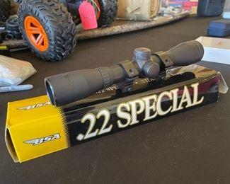 BSA 22 Special Scope 4x32 w/ Mounts & Original Box4X32