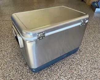 COLEMAN Stainless Steel Belted 54 Quart Cooler / Ice Chest ~ Model 6150 615525x16